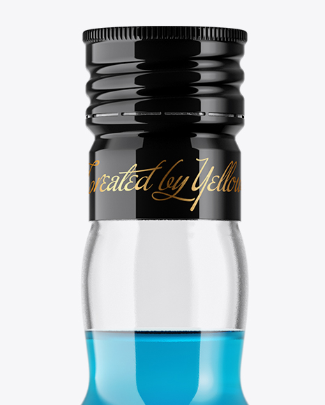 Download Clear Glass Blue Syrup Bottle Mockup In Bottle Mockups On Yellow Images Object Mockups PSD Mockup Templates