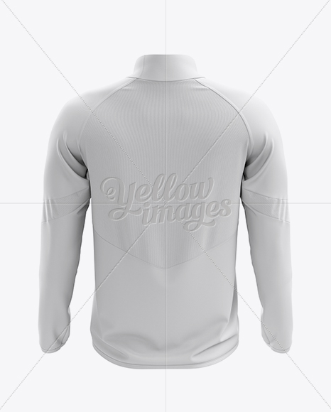 Men's Midlayer Soccer Shirt Mockup - Back View