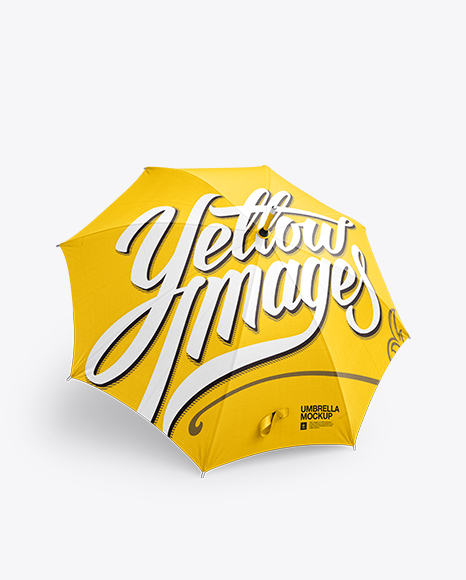 Download Open Umbrella Mockup Front 34 View Yellowimages