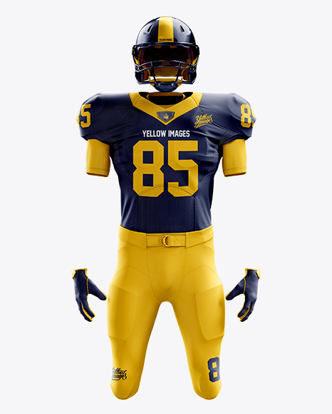 Download American Football Kit Mockup Front View In Apparel Mockups On Yellow Images Object Mockups Free Mockups