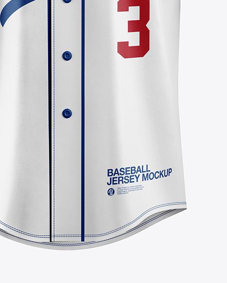 Men's Baseball Jersey Mockup - Front View