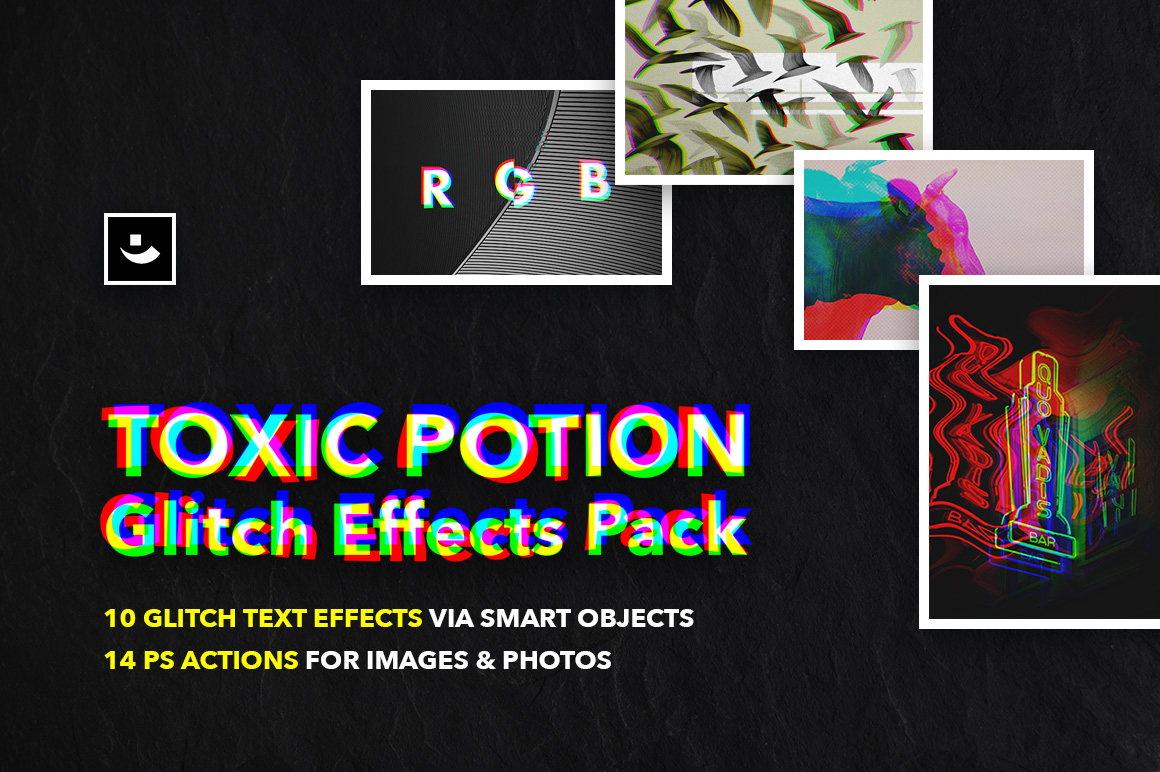 Toxic Potion Glitch Effects Pack