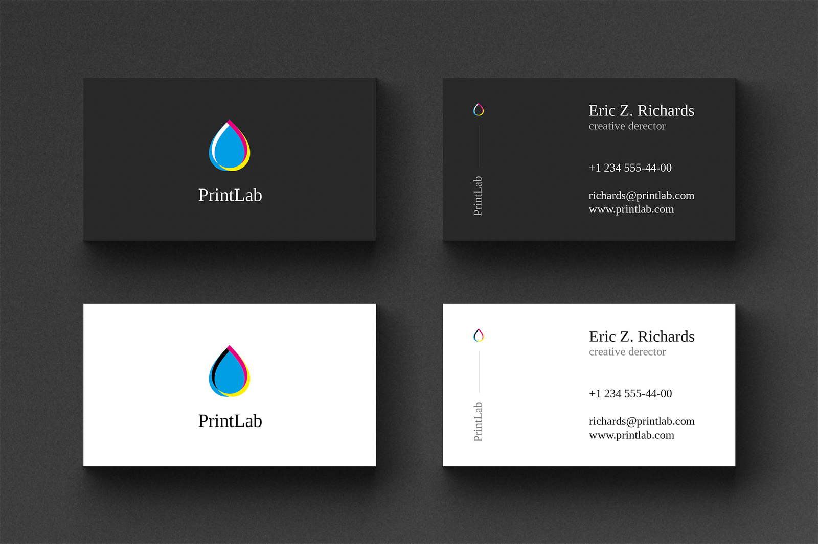 PrintLab. Business card template and Logo
