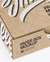 Kraft Paper Box With Chocolates Mockup - Half Side View (High-Angle Shot)