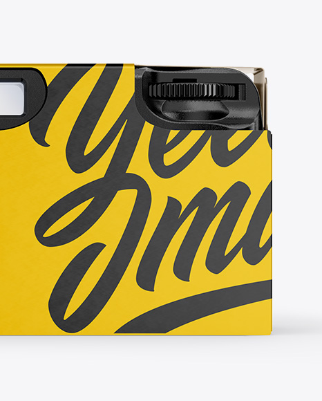 Disposable Camera Mockup - Back View
