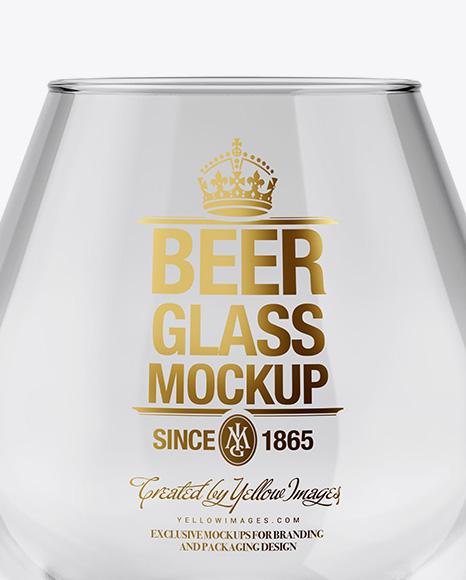 Empty Snifter Glass Mockup