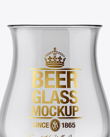 Empty Tulip Glass Mockup