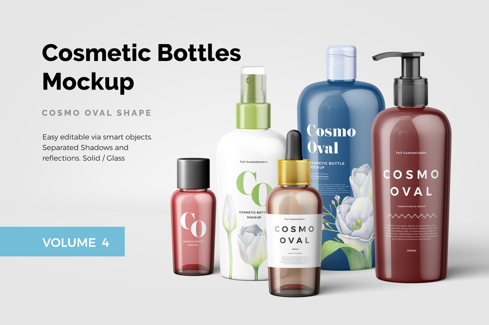 Cosmetic Bottles Mockup Vol.4
