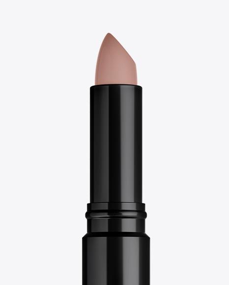 Glossy Opened Lipstick Mockup