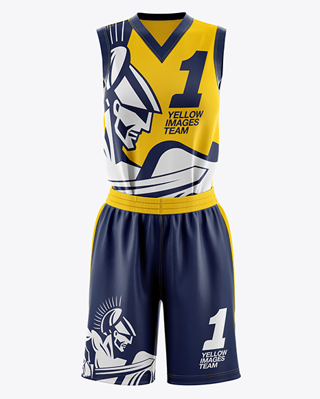 Download Basketball Jersey Mockup Back View Yellow Images