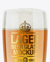 Willi Becher Glass With Lager Beer Mockup