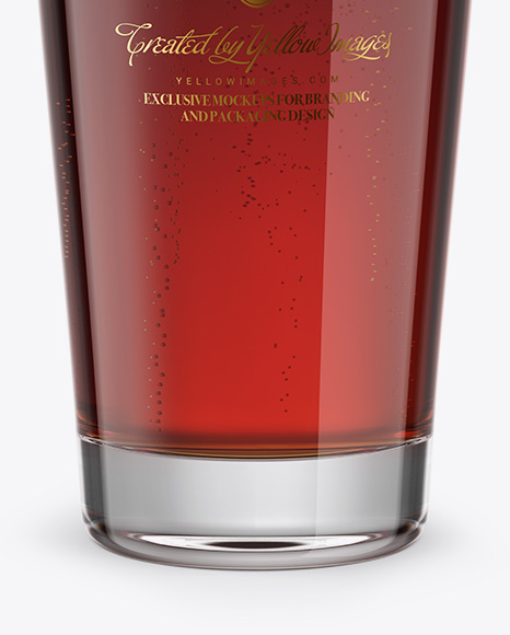Willi Becher Glass With Red Ale Mockup