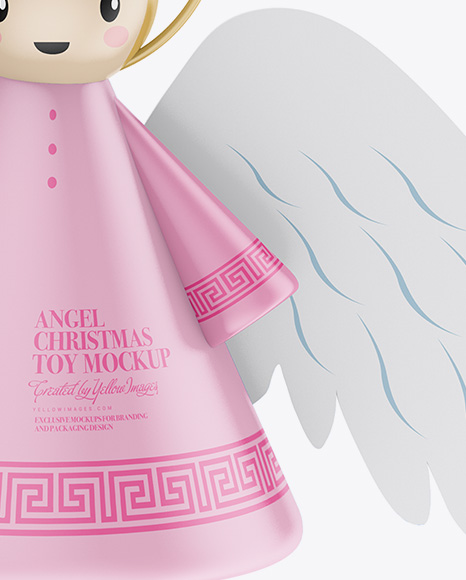 Matte Christmas Angel Toy Mockup