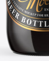 330ml Dark Amber Beer Bottle Mockup
