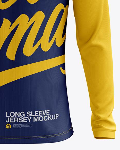 Men's Soccer V-Neck Jersey LS mockup (Front View)