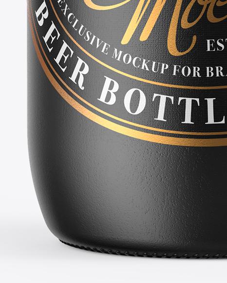 330ml Ceramic Beer Bottle Mockup