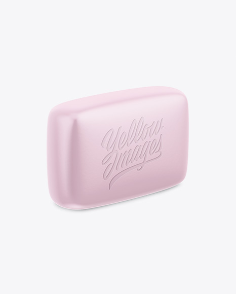 Matte Soap Package Mockup - Half Side View