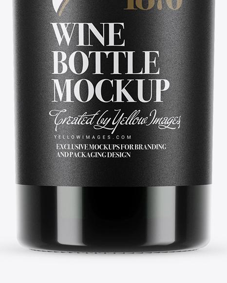 750ml Green Glass Red Wine Bottle Mockup