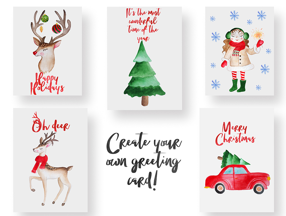 Merry Christmas Watercolor Set