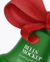Matte Christmas Bells Mockup