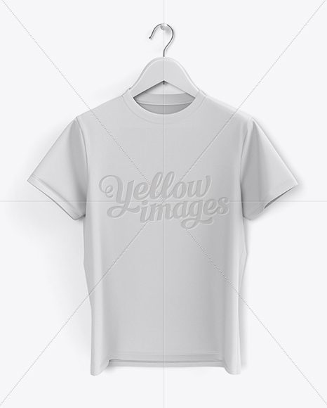 Download Hanging T Shirt Mockup In Apparel Mockups On Yellow Images Object Mockups PSD Mockup Templates