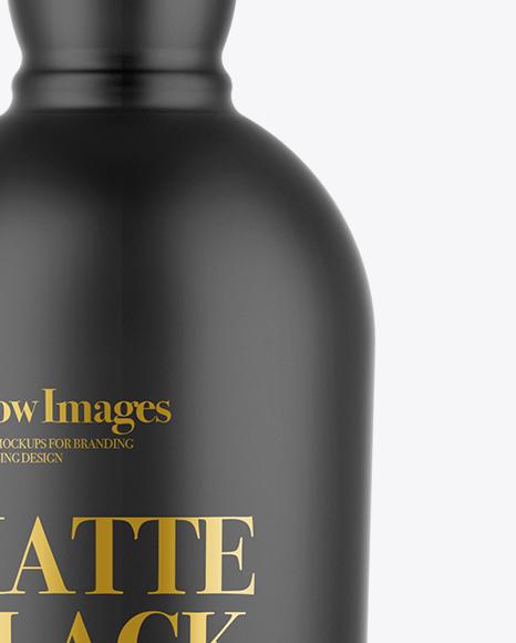 Download Matte Black Bottle Mockup In Bottle Mockups On Yellow Images Object Mockups PSD Mockup Templates