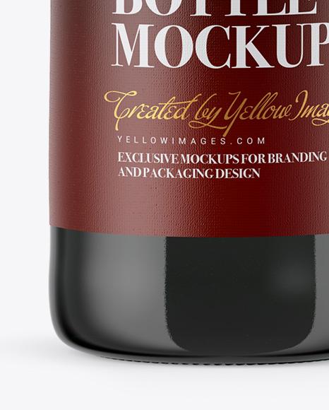 330ml Green Glass Bottle with Dark Beer Mockup