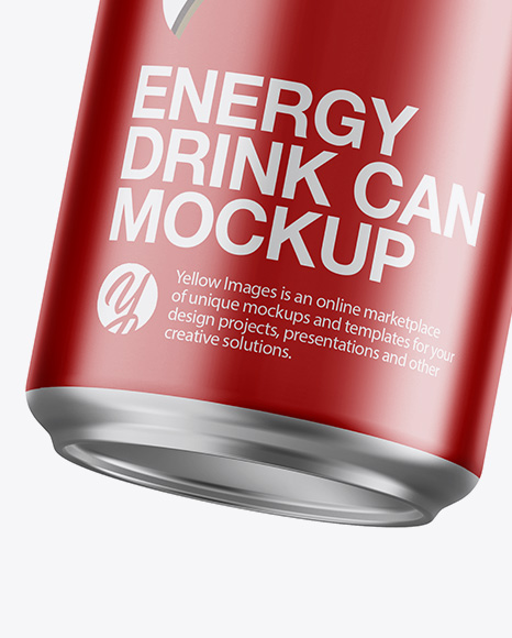 Aluminium Can With Metallic Finish Mockup