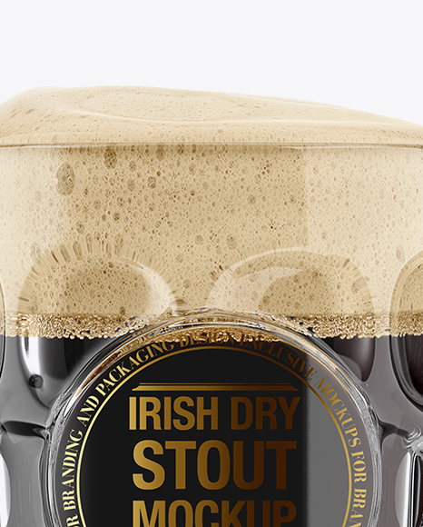 Britannia Glass With Irish Dry Stout Beer Mockup