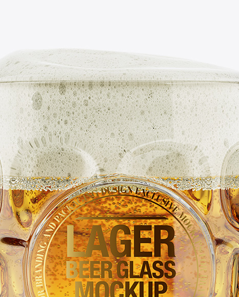 Britannia Glass With Lager Beer Mockup