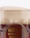 Britannia Glass With Red Ale Mockup