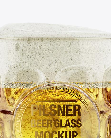 Britannia Glass With Pilsner Beer Mockup