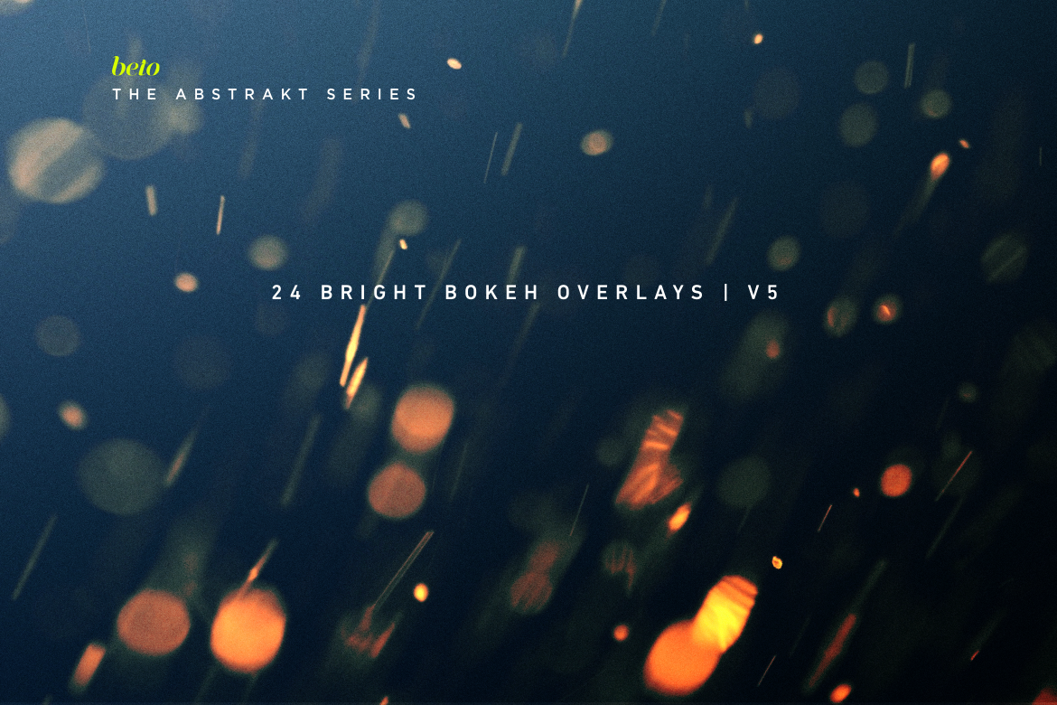 Bright Bokeh Overlays V5