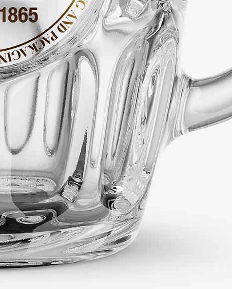 Empty Britannia Glass Mockup