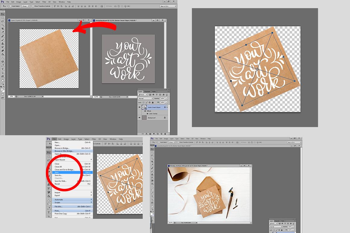 Envelop letter mock up