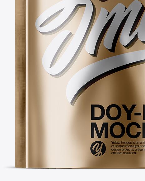 Metallic Doy-Pack Mockup