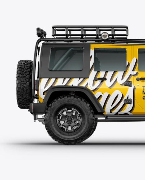 jeep wrangler mockup side view in vehicle mockups on. Black Bedroom Furniture Sets. Home Design Ideas