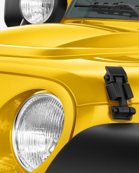 Jeep Wrangler Mockup - Left Half Side View