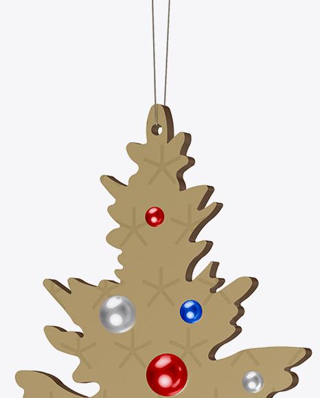 Metallic Christmas Tree Toy Mockup