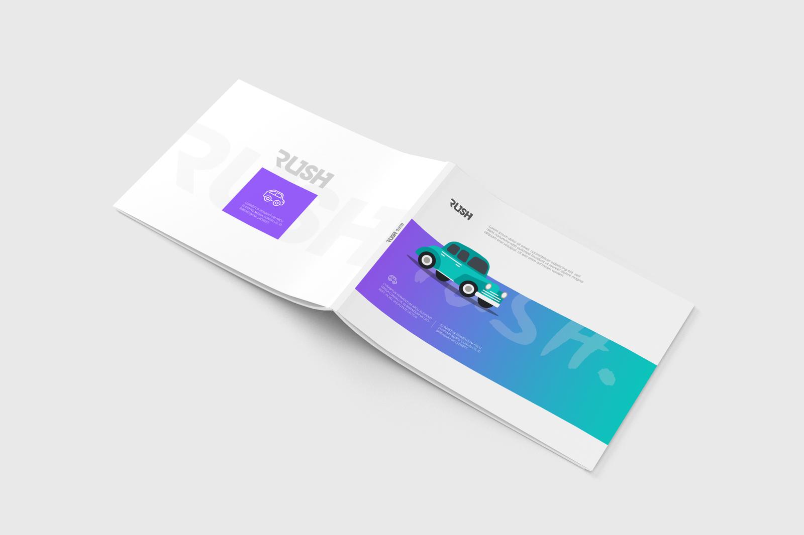 Download Landscape Flyer Mockup Free PSD - Free PSD Mockup Templates