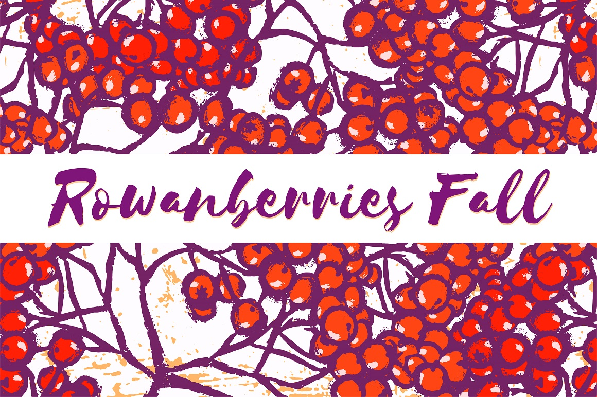 Rowanberries Fall Pattern Collection