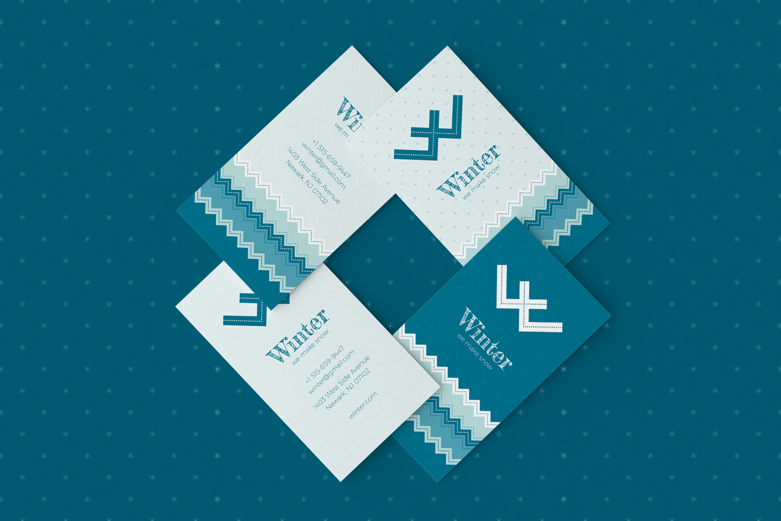 Winter. Business Card Templates