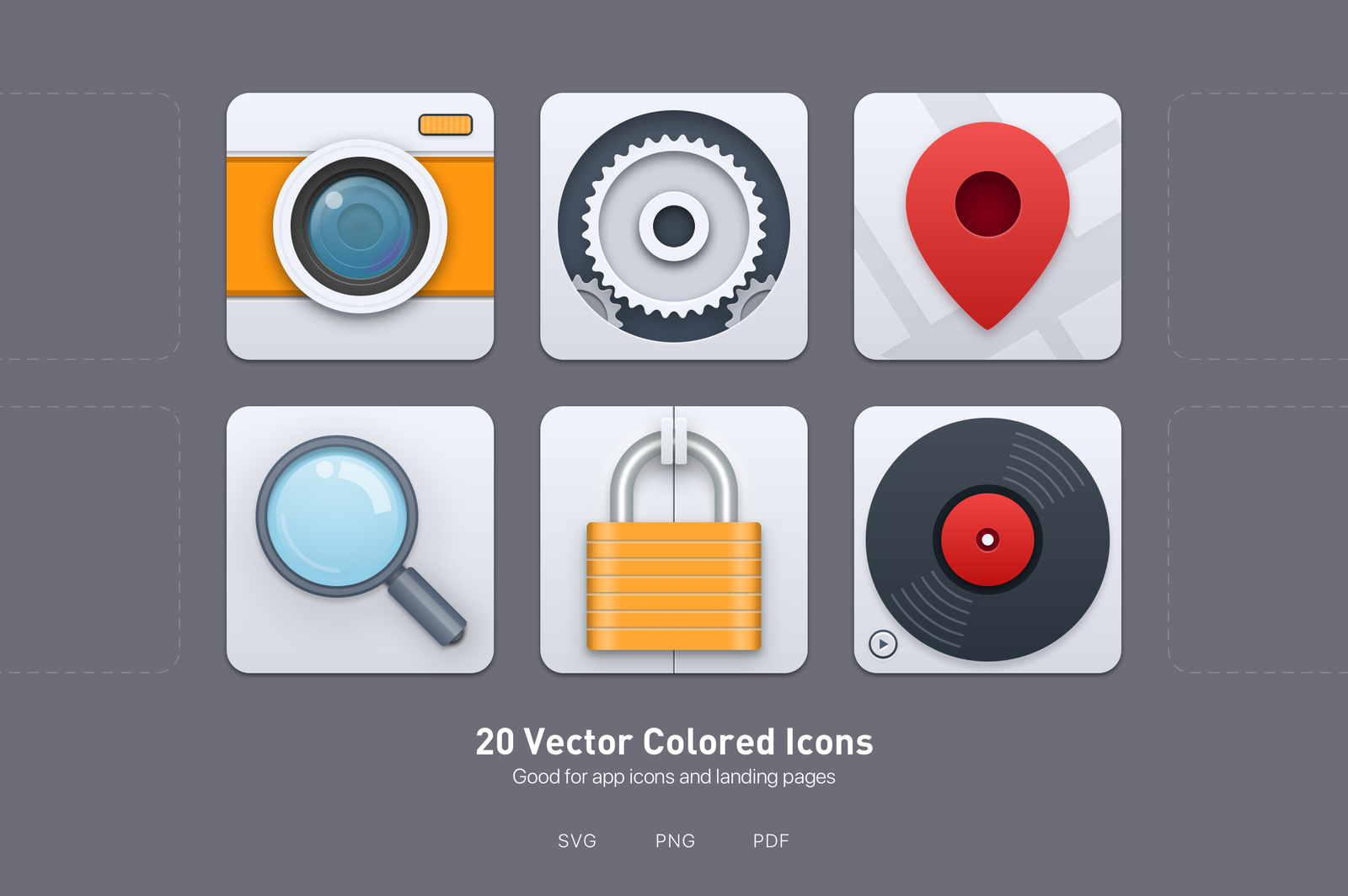 20 Vector Colored Icons
