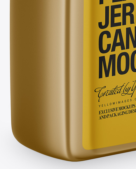 Metallic Plastic Jerry Can Mockup - Half Side View