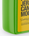 Textured Plastic Jerry Can Mockup - Half Side View