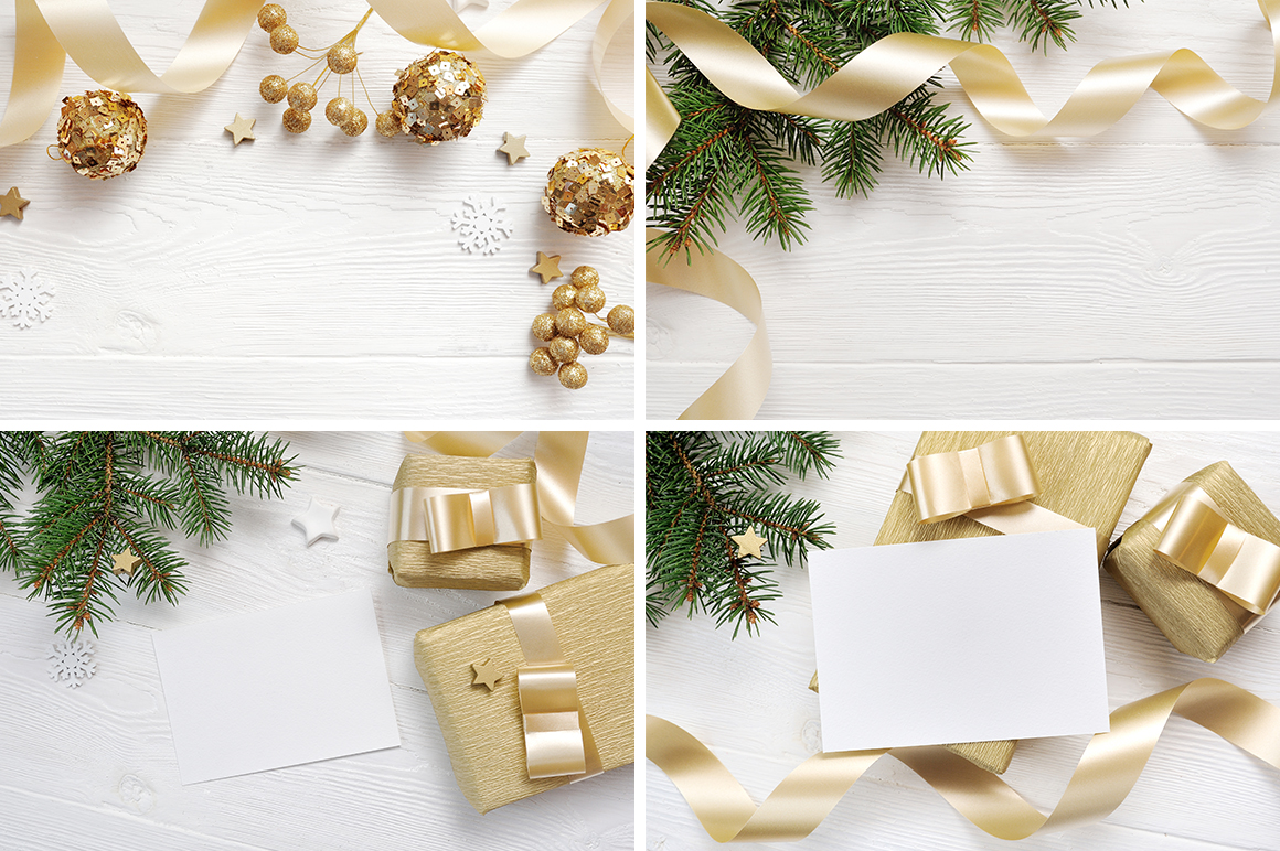 Christmas background mock ups with smart object