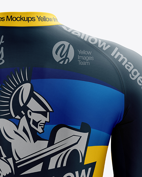 Download Mens Cycling Jersey Mockup Front View Yellowimages