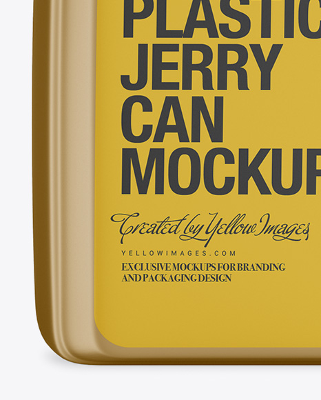 Metallic Plastic Jerry Can Mockup - Front View