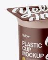 Matte Yogurt Cup Mockup - Half Side View