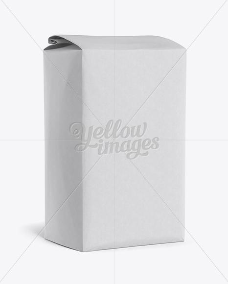 Paper Flour Bag Mockup - Halfside View